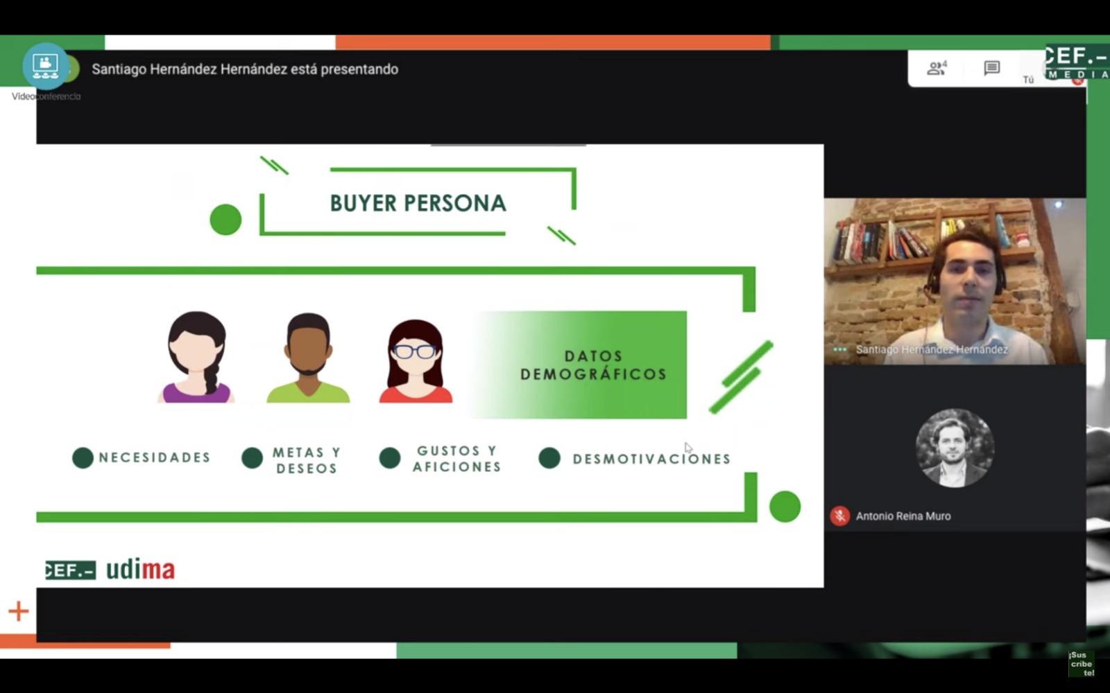 Imagen de una de las clases online del CEF.- Santo Domingo -Udima.