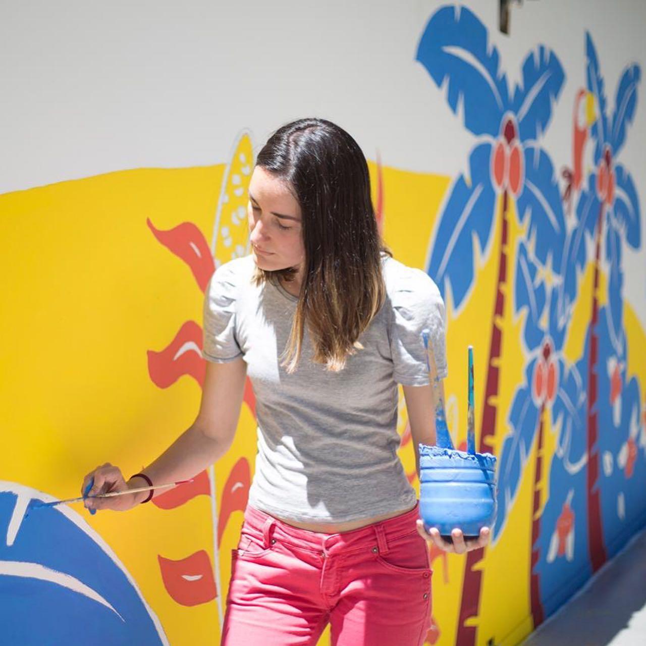 Ilustradora de la literatura infantil, Taína Almodóvar, en Bologna 2020.