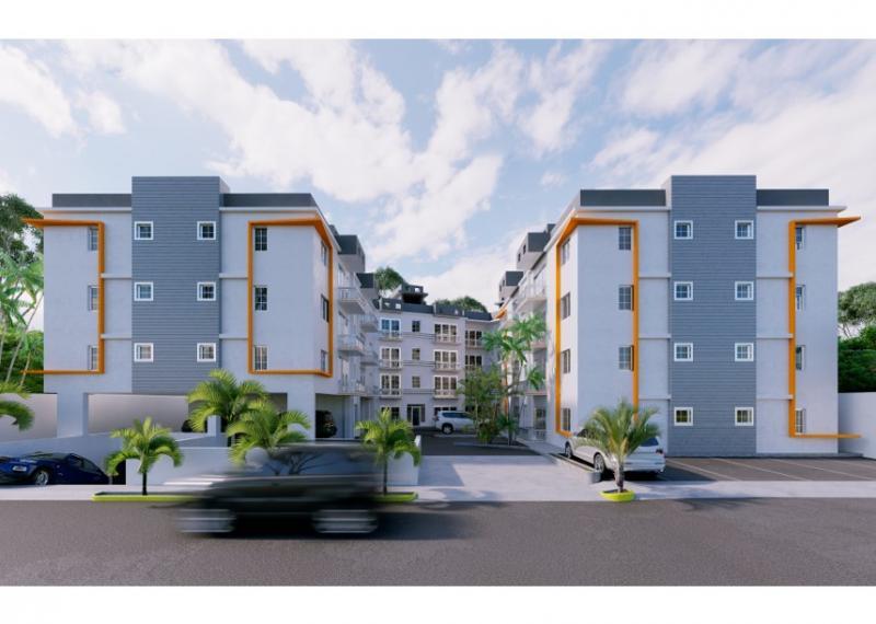 Imagen de los apartamentos Mguel Ángel XVI, de la Constructora Interamericana S.A. (Consisa), que realiza su campaña Un techo para mamá.