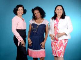 Mayra Contreras, Griselda Paula y Yosarah Fernández.