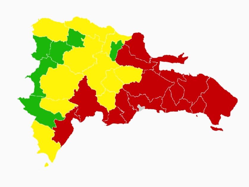 RD con 14 provincias en alerta roja