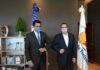 David Collado, recien designado Ministro de Turismo, durante su visita al actual ministro de esa cartera, Francisco Javier García.