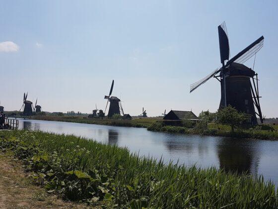 Molinos de viento en Holanda.