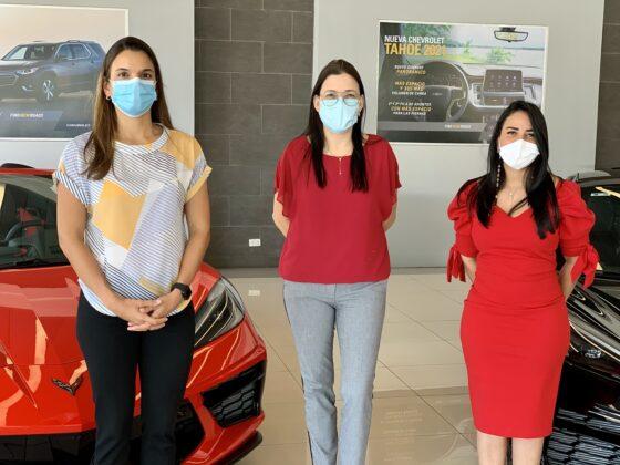 Paola Soto, Marielly Figueroa y Alejandra Santos.